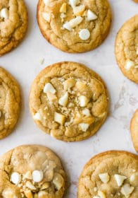 thick and chewy white chocolate macadamia nut cookie