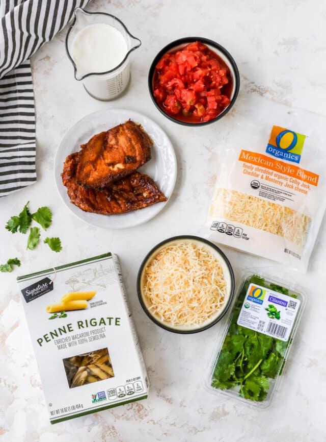 ingredients needed for creamy chicken pasta