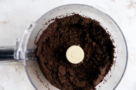 using a food processor to make Oreo crumbs