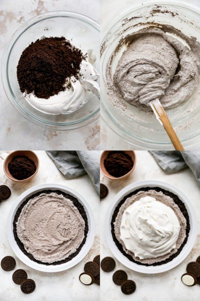 steps to make an Oreo pie