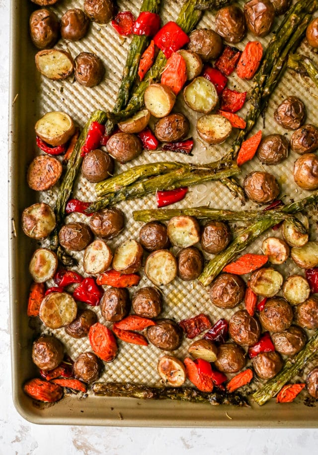 best roasted vegetables on a sheet pan