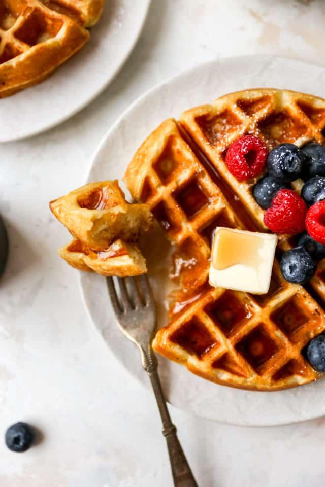 fork of buttermilk waffle