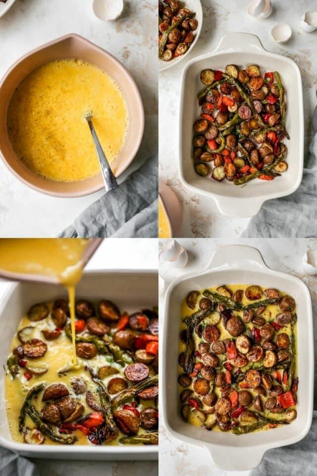steps for making healthy breakfast casserole