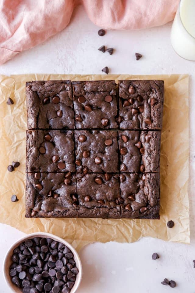 brownies cut into 9 servings