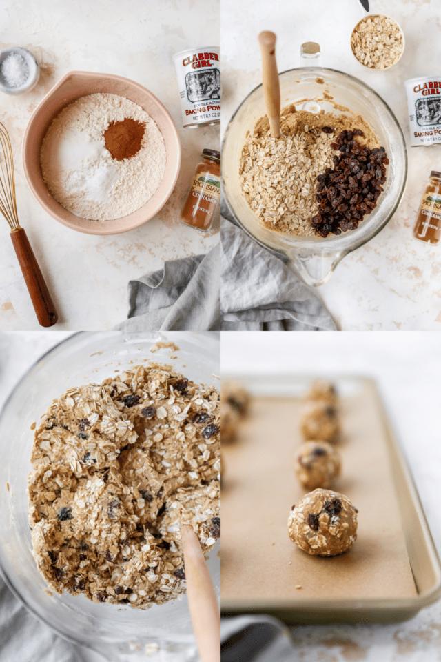 steps for making oatmeal raisin cookies