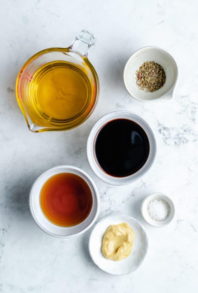 ingredients for making balsamic vinaigrette
