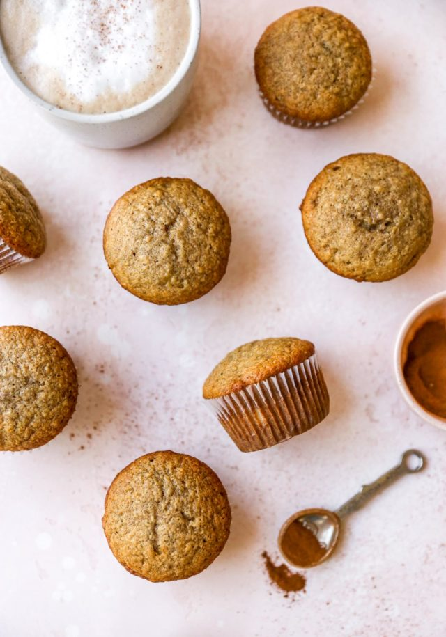 fluffy homemade banana muffins
