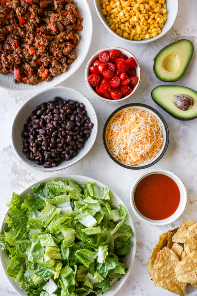 ingredients needed for making taco salad