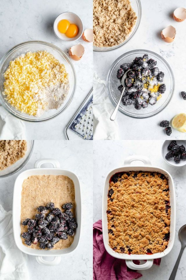 steps for making blackberry crumble