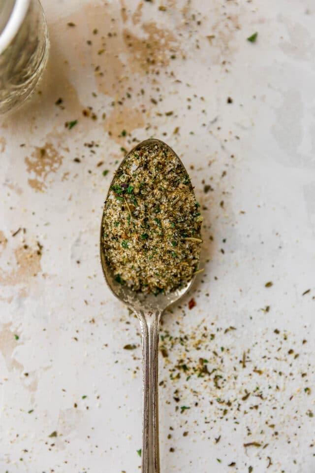 spoonful of Italian seasoning