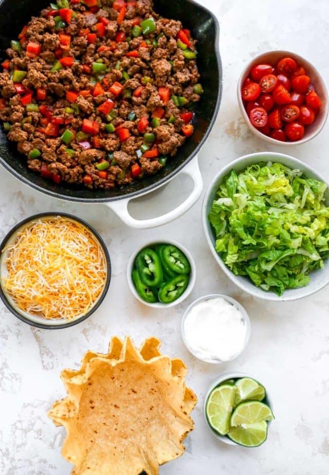 ingredients needed for homemade tostadas