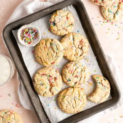 baked funfetti cookies with sprinkles