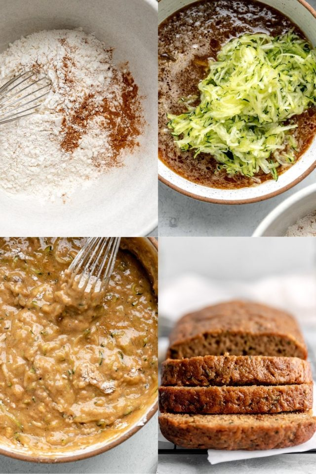pictures showing how to make zucchini bread