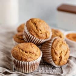 pumpkin muffins in muffin liners