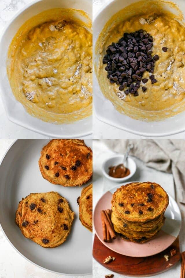 steps for making pumpkin pancakes